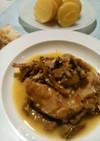 ウサギ肉とキノコの白ワイン煮込み