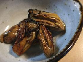 牡蠣の赤ワイン風照り焼き