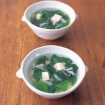 ほうれん草とホタテのスープ