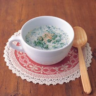 ほうれん草の豆乳スープ