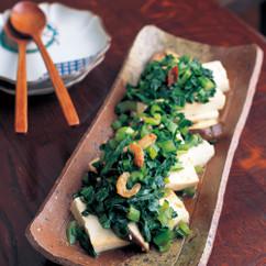小松菜と木綿豆腐のさっと炒め煮