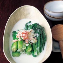小松菜のミルク煮