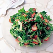 小松菜といちごのサラダ