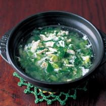 小松菜と卵白のスープ