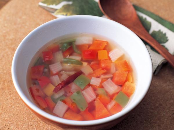 パプリカのあっさりスープ