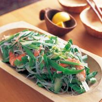 にらとえびと香味野菜のスイートチリサラダ