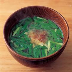 にらの味噌汁