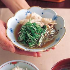 水菜と豚肉のささっと煮