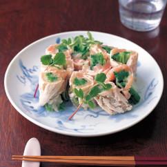 水菜の鶏ささ身巻き