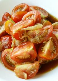トマトと玉ねぎ☆ちょっと和風マリネ