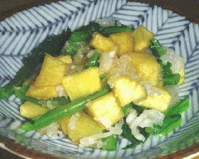 さつま芋と小松菜のおろし和え