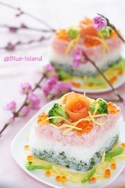 ひな祭りのお寿司♪ひしもち風♪の写真