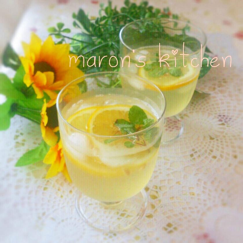 熱中症対策に♡ソルティーサイダーレモン水