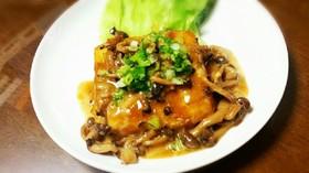 焼き肉のタレでマヨガーリック豆腐ステーキ