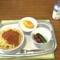 なつかしの給食!ソフト麺ミートソース