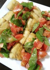 塩サバのトマト&バジルソース
