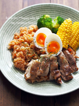 炊飯器de簡単!炊き込みチキンライス