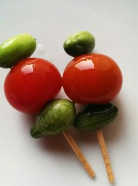 マイクロきゅうりとプチトマトの浅漬け