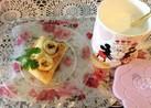 朝食用♪クリームチーズとバナナのケーキ♡