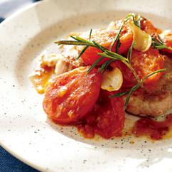 豚ロースとトマトのソテー