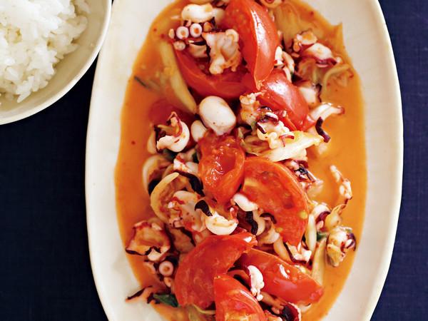 トマトタコキムチバター