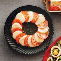 トマトとホタテのオードブル
