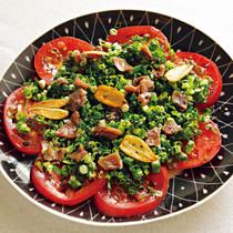トマトとアンチョビーのオイルサラダ