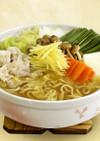しょうゆ味を使って「生姜鍋風」