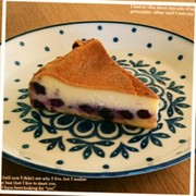 ブルーベリーNYチーズケーキの写真