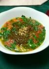 モロヘイヤとトマトのスタミナスープ
