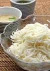 オクラとろろ素麺