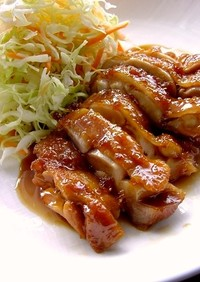 鶏肉の生姜照り照り焼き煮。