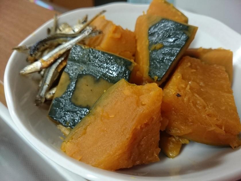 いりこで簡単!かぼちゃの煮物