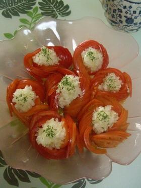 お花トマト♪