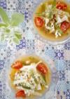 簡単ヘルシー!*夏野菜のピリ辛冷や汁*