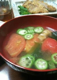 暑い日にも!夏のさっぱりトマト味噌汁