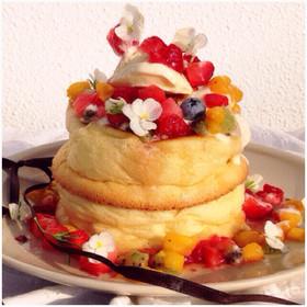 ふわふわ!厚焼きメレンゲパンケーキ