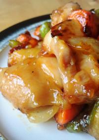 鶏と野菜の黒酢あんかけ