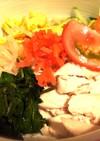 蒸し鶏と野菜たっぷり冷やし中華♡