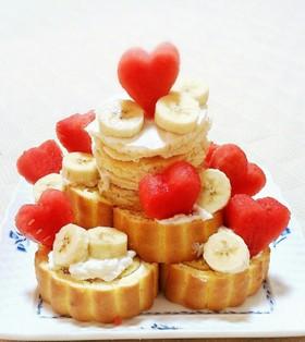 家族で離乳食★簡単★1歳のお誕生日ケーキ