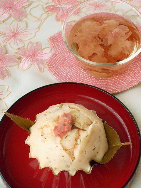 ひな祭りに♪春らしい桜蒸しパン★餡入り
