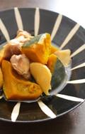 かぼちゃと鶏肉のしょうが煮