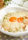 カレー風味の納豆卵かけごはん