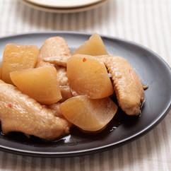 鶏手羽先と大根の中華煮
