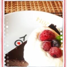 大人の濃厚チョコチーズケーキ♪ロカボ♪