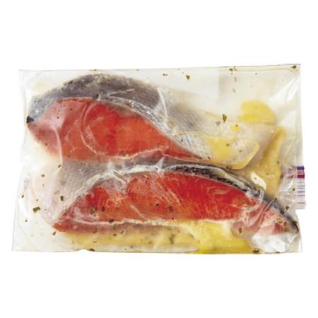 鮭のレモンマリネ