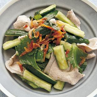 きゅうりと豚の香味サラダ