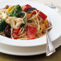 野菜グリルのスパゲッティーニ