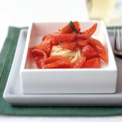 トマトの冷製カペッリーニ