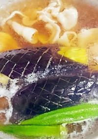 簡単!オカンの夏野菜と豚バラの揚げ浸し!